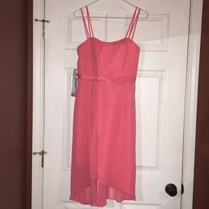 New Alfred Angelo Coral High Low Dress 6 Formal